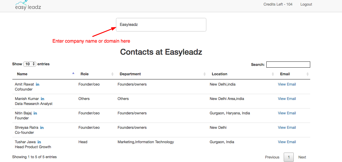 EasyEmail – find anyone's professional email id