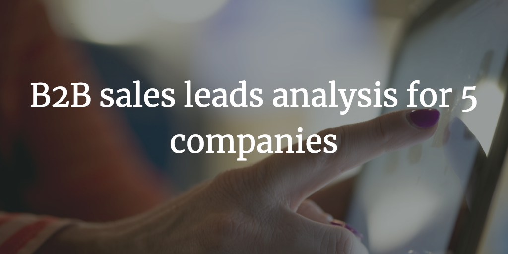 Day 1 – B2B sales leads predictions for 5 companies – 31st December 2018