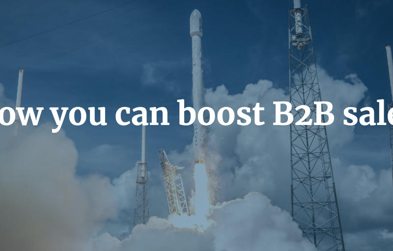 How you can boost B2B sales