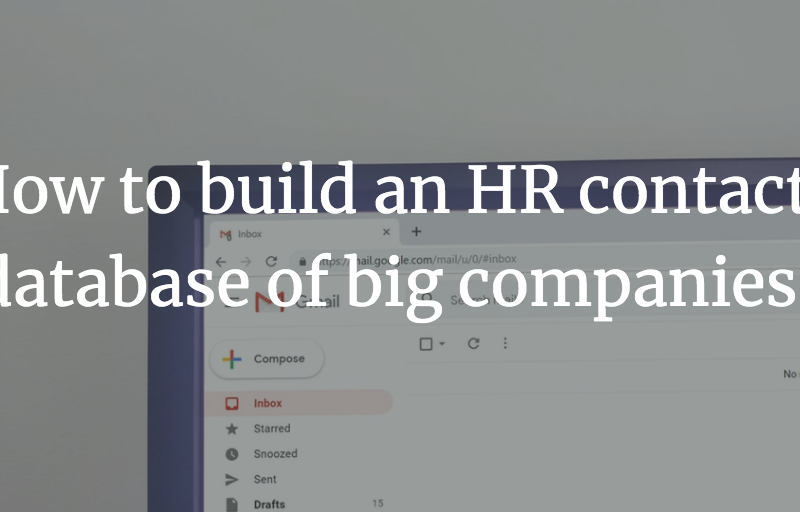 How to build an HR contacts database of big companies?
